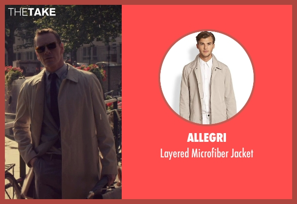 Allegri beige jacket from The Counselor seen with Michael Fassbender (Counselor)