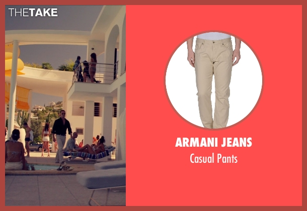 Armani Jeans beige pants from The Counselor seen with Michael Fassbender (Counselor)