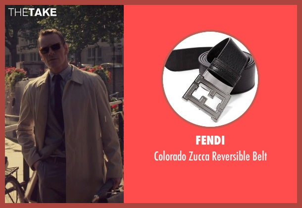 Fendi black belt from The Counselor seen with Michael Fassbender (Counselor)