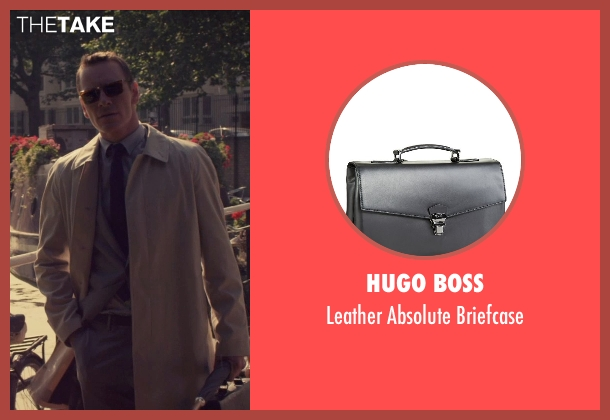 Hugo Boss black briefcase from The Counselor seen with Michael Fassbender (Counselor)
