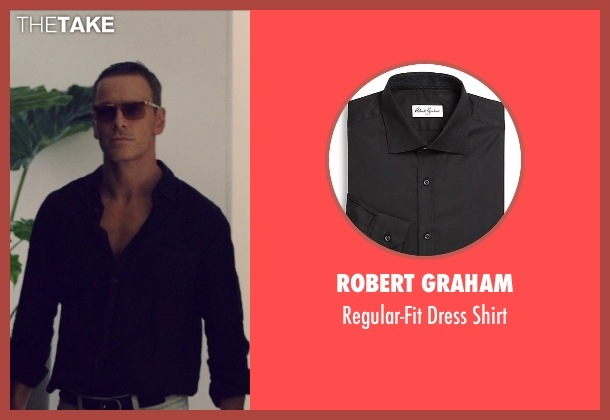 Robert Graham black shirt from The Counselor seen with Michael Fassbender (Counselor)