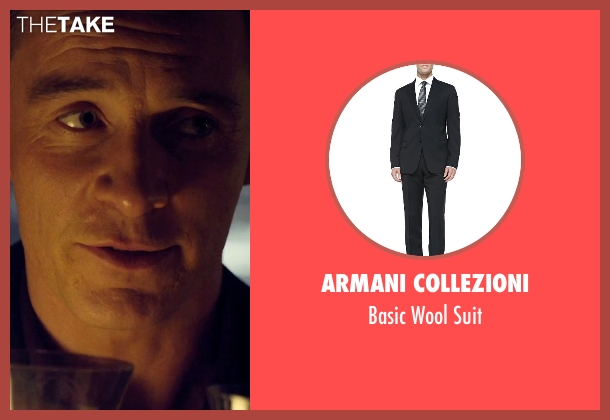 Armani Collezioni black suit from The Counselor seen with Michael Fassbender (Counselor)