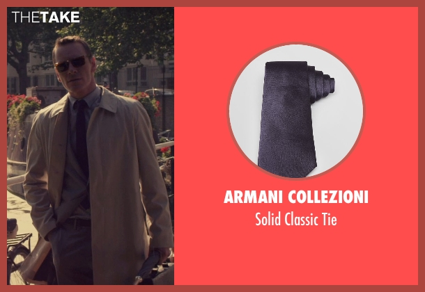 Armani Collezioni black tie from The Counselor seen with Michael Fassbender (Counselor)