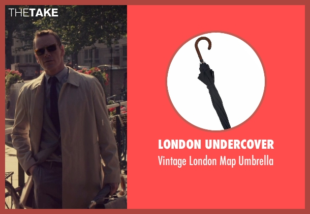 London Undercover black umbrella from The Counselor seen with Michael Fassbender (Counselor)