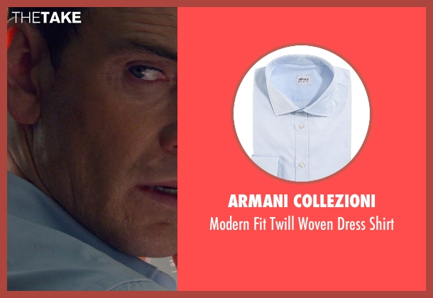 Armani Collezioni blue shirt from The Counselor seen with Michael Fassbender (Counselor)