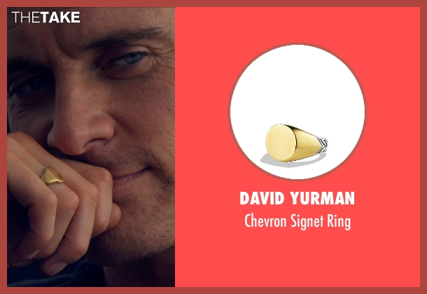 David Yurman gold ring from The Counselor seen with Michael Fassbender (Counselor)
