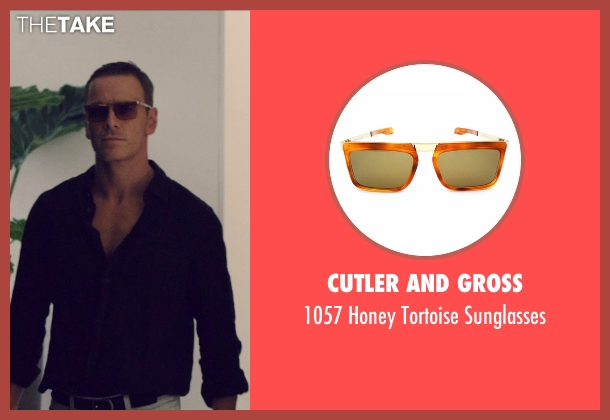 Cutler and Gross gold sunglasses from The Counselor seen with Michael Fassbender (Counselor)