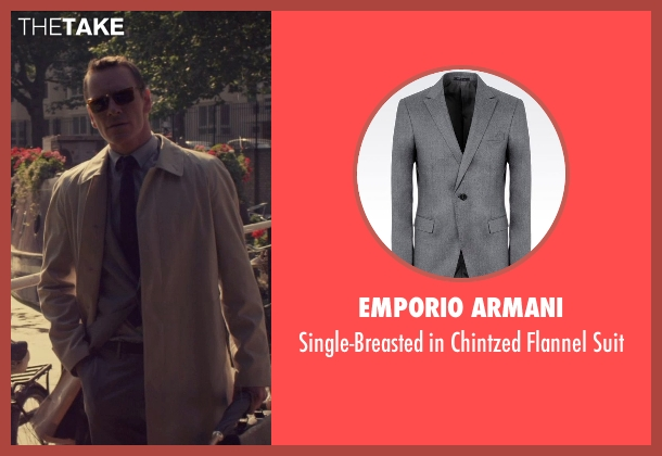 Emporio Armani gray suit from The Counselor seen with Michael Fassbender (Counselor)