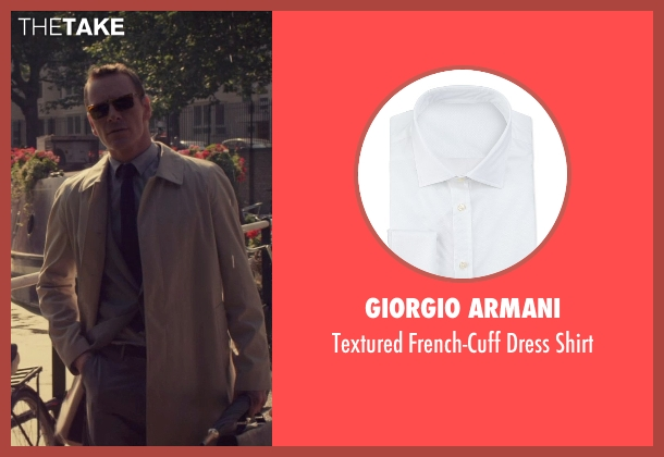 Giorgio Armani white shirt from The Counselor seen with Michael Fassbender (Counselor)