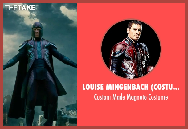Louise Mingenbach (Costume Designer) costume from X-Men: Apocalypse seen with Michael Fassbender (Erik Lehnsherr / Magneto)
