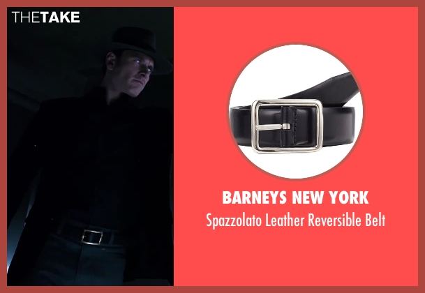 BARNEYS NEW YORK black belt from X-Men: Days of Future Past seen with Michael Fassbender (Erik Lehnsherr / Magneto)