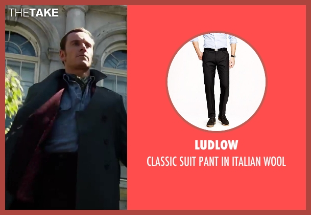 LUDLOW black wool from X-Men: Days of Future Past seen with Michael Fassbender (Erik Lehnsherr / Magneto)