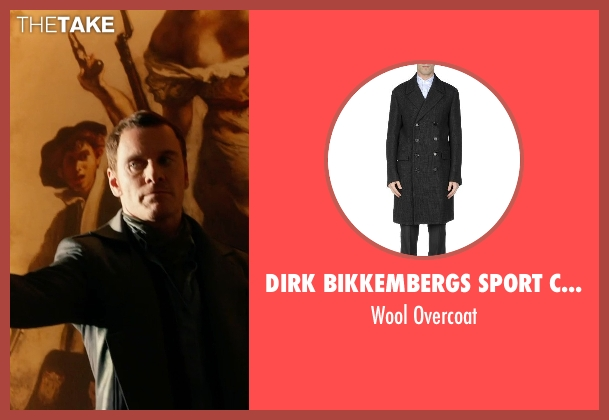 Dirk Bikkembergs Sport Couture gray overcoat from X-Men: Days of Future Past seen with Michael Fassbender (Erik Lehnsherr / Magneto)