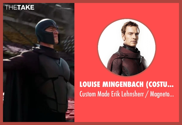 Louise Mingenbach (Costume Designer) costume from X-Men: Days of Future Past seen with Michael Fassbender (Erik Lehnsherr / Magneto)