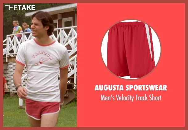Augusta Sportswear red short from Wet Hot American Summer seen with Michael Ian Black (McKinley)