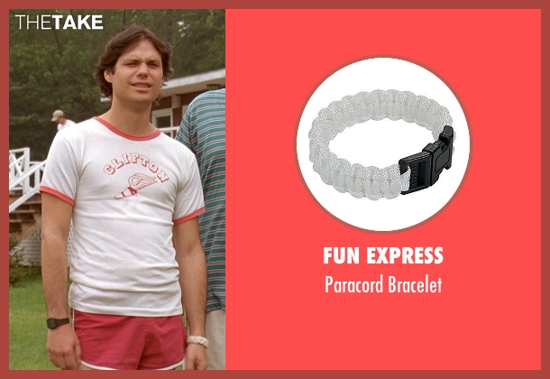 Fun Express white bracelet from Wet Hot American Summer seen with Michael Ian Black (McKinley)