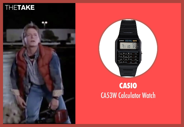 Casio black watch from Back To The Future seen with Michael J. Fox (Marty McFly)