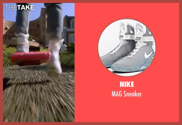 Nike gray sneaker from Back To The Future Part II seen with Michael J. Fox (Marty McFly)