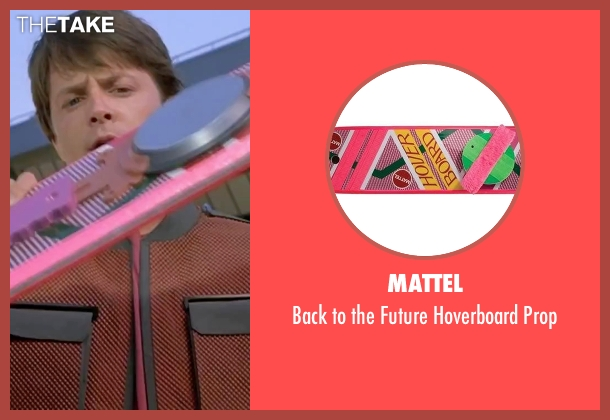 Mattel prop from Back To The Future Part II seen with Michael J. Fox (Marty McFly)