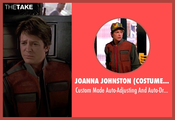 Joanna Johnston (Costume Designer) red jacket from Back To The Future Part II seen with Michael J. Fox (Marty McFly)