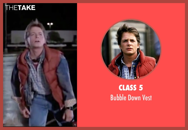 Class 5 red vest from Back To The Future seen with Michael J. Fox (Marty McFly)