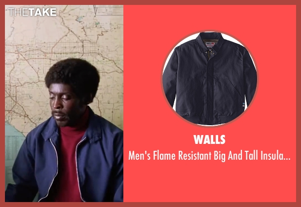 Walls blue jacket from Inherent Vice seen with Michael K. Williams (Tariq Khalil)