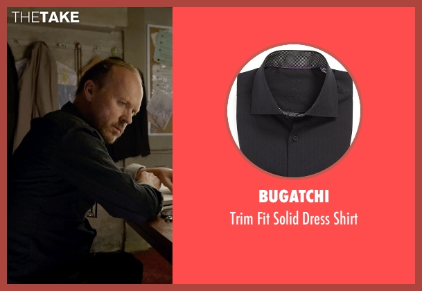 Bugatchi black shirt from Birdman seen with Michael Keaton (Riggan)