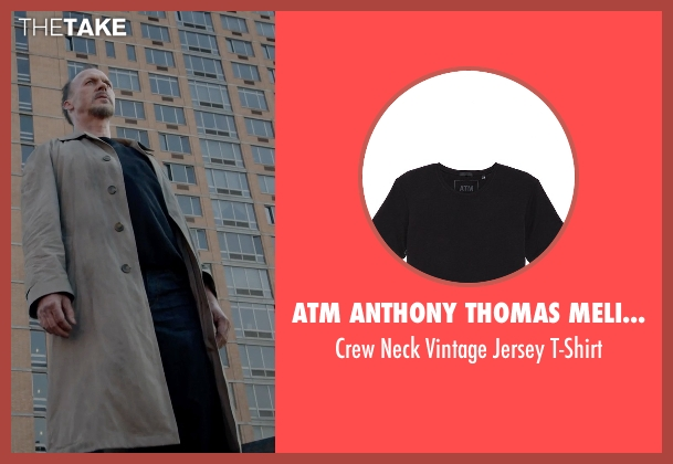 ATM Anthony Thomas Melillo black t-shirt from Birdman seen with Michael Keaton (Riggan)