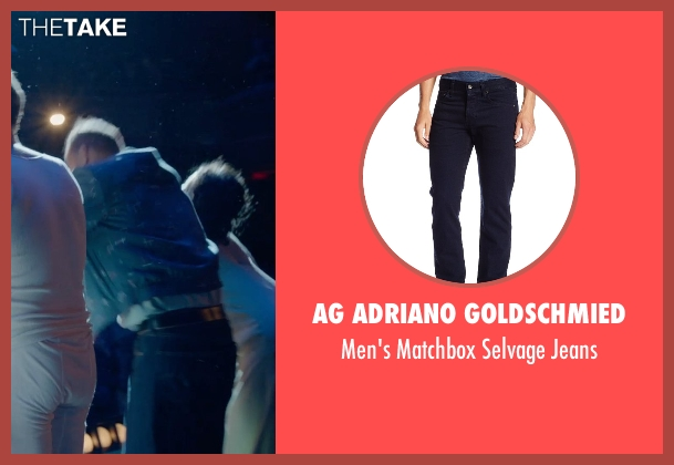 AG Adriano Goldschmied blue jeans from Birdman seen with Michael Keaton (Riggan)