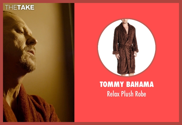 Tommy Bahama brown robe from Birdman seen with Michael Keaton (Riggan)