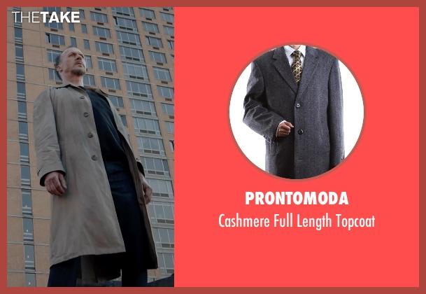 Prontomoda gray topcoat from Birdman seen with Michael Keaton (Riggan)