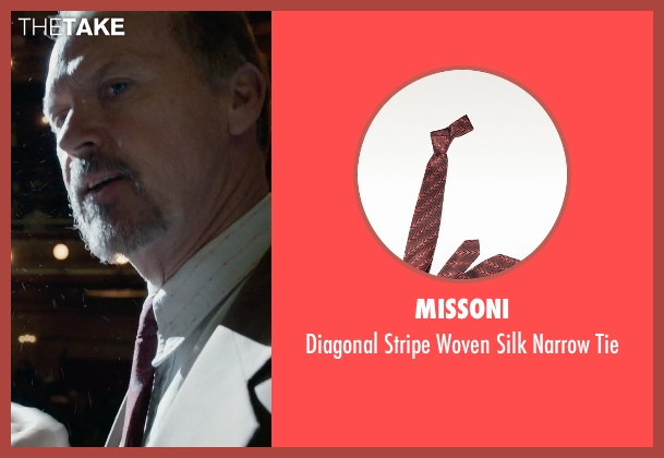 Missoni red tie from Birdman seen with Michael Keaton (Riggan)