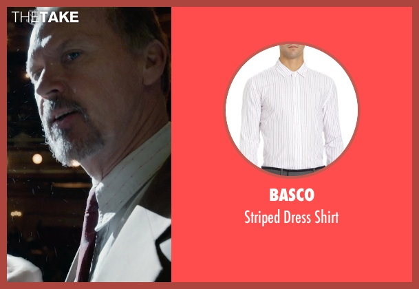 Basco white shirt from Birdman seen with Michael Keaton (Riggan)