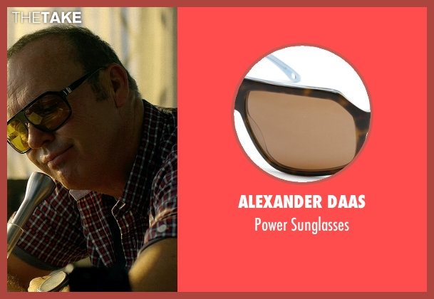 Alexander Daas black sunglasses from Need for Speed seen with Michael Keaton (Monarch)