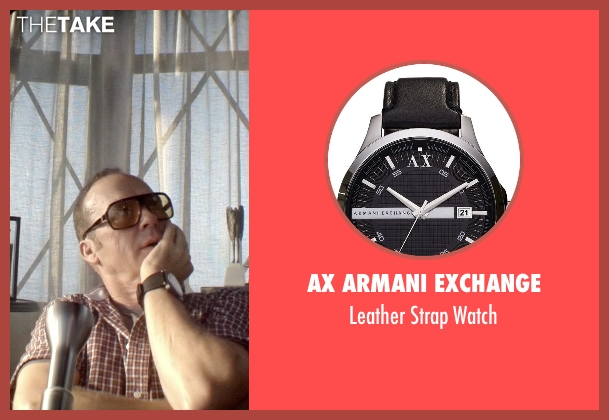 AX Armani Exchange black watch from Need for Speed seen with Michael Keaton (Monarch)