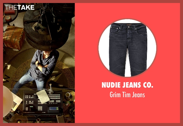 Nudie Jeans Co. blue jeans from Need for Speed seen with Michael Keaton (Monarch)