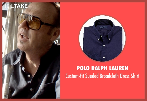 Polo Ralph Lauren blue shirt from Need for Speed seen with Michael Keaton (Monarch)