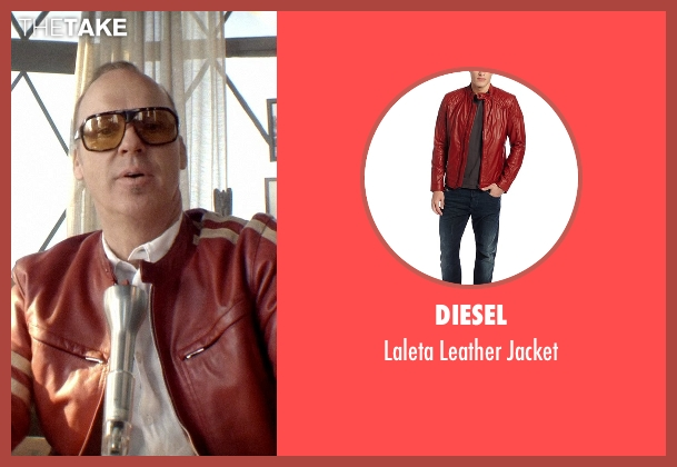 Diesel red jacket from Need for Speed seen with Michael Keaton (Monarch)
