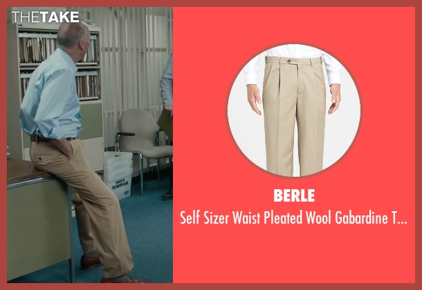 Berle beige trousers from Spotlight seen with Michael Keaton (Walter 'Robby' Robinson)