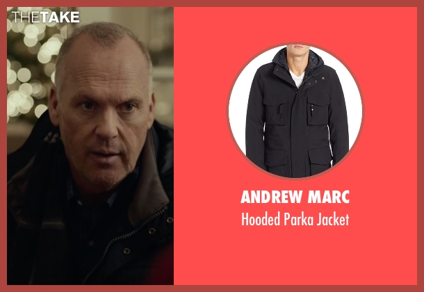 Andrew Marc black jacket from Spotlight seen with Michael Keaton (Walter 'Robby' Robinson)