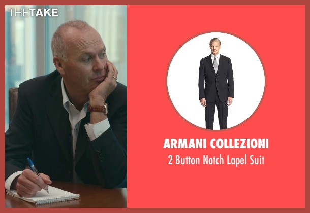 Armani Collezioni black suit from Spotlight seen with Michael Keaton (Walter 'Robby' Robinson)