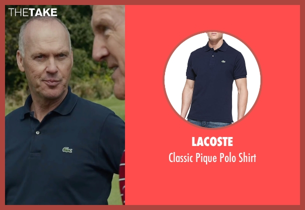 Lacoste blue shirt from Spotlight seen with Michael Keaton (Walter 'Robby' Robinson)