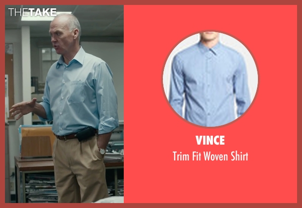 Vince blue shirt from Spotlight seen with Michael Keaton (Walter 'Robby' Robinson)