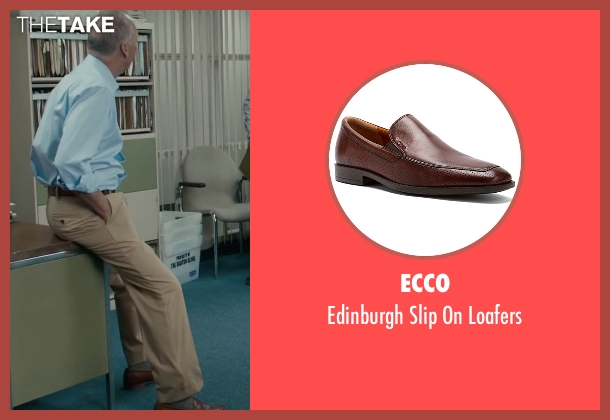 Ecco brown loafers from Spotlight seen with Michael Keaton (Walter 'Robby' Robinson)