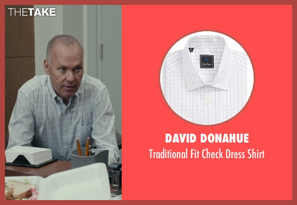 David Donahue white shirt from Spotlight seen with Michael Keaton (Walter 'Robby' Robinson)