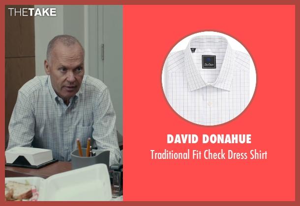 David Donahue white shirt from Spotlight seen with Michael Keaton (Walter 'Robby' Robinson)