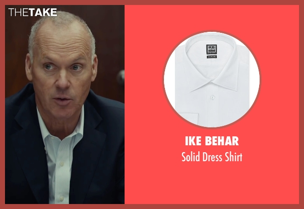 Ike Behar white shirt from Spotlight seen with Michael Keaton (Walter 'Robby' Robinson)