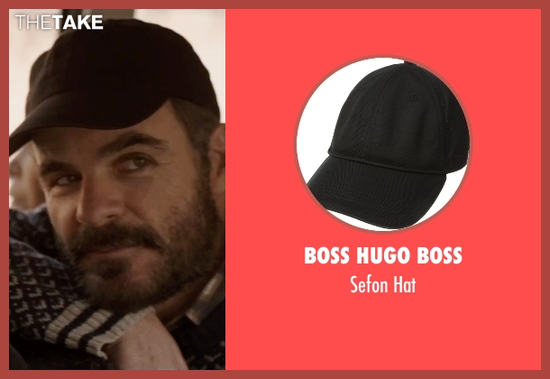 Boss Hugo Boss black hat from Everest seen with Michael Kelly (Jon Krakauer)