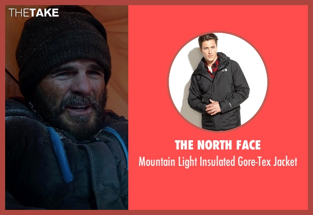 The North Face black jacket from Everest seen with Michael Kelly (Jon Krakauer)