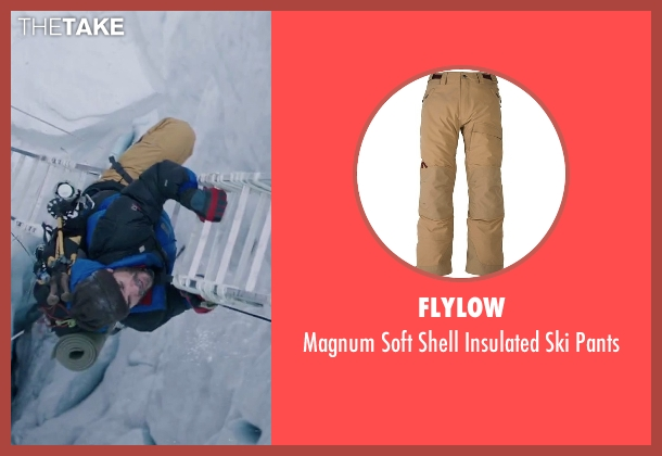 Flylow brown pants from Everest seen with Michael Kelly (Jon Krakauer)